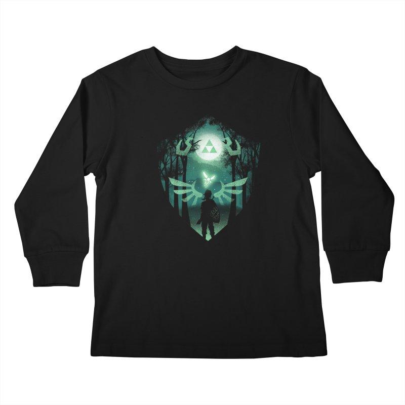 The Hero Crest Kids Longsleeve T-Shirt by dandingeroz's Artist Shop