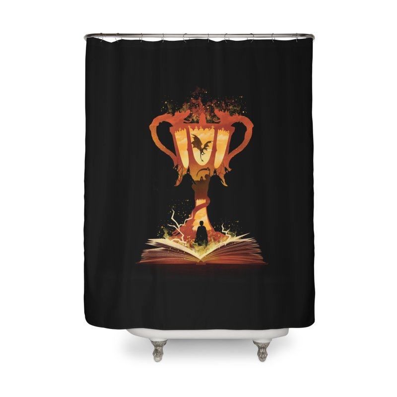 The 4th Book of Magic Home Shower Curtain by dandingeroz's Artist Shop