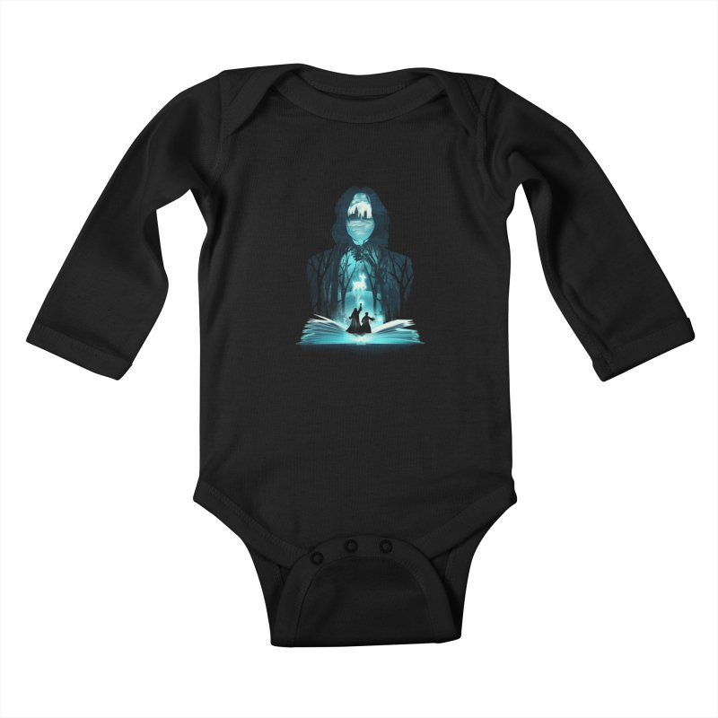 The 6th Book of Magic Kids Baby Longsleeve Bodysuit by dandingeroz's Artist Shop