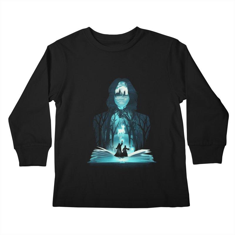 The 6th Book of Magic Kids Longsleeve T-Shirt by dandingeroz's Artist Shop