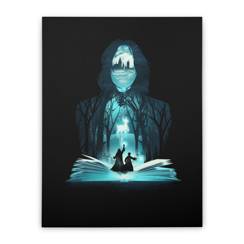 The 6th Book of Magic Home Stretched Canvas by dandingeroz's Artist Shop