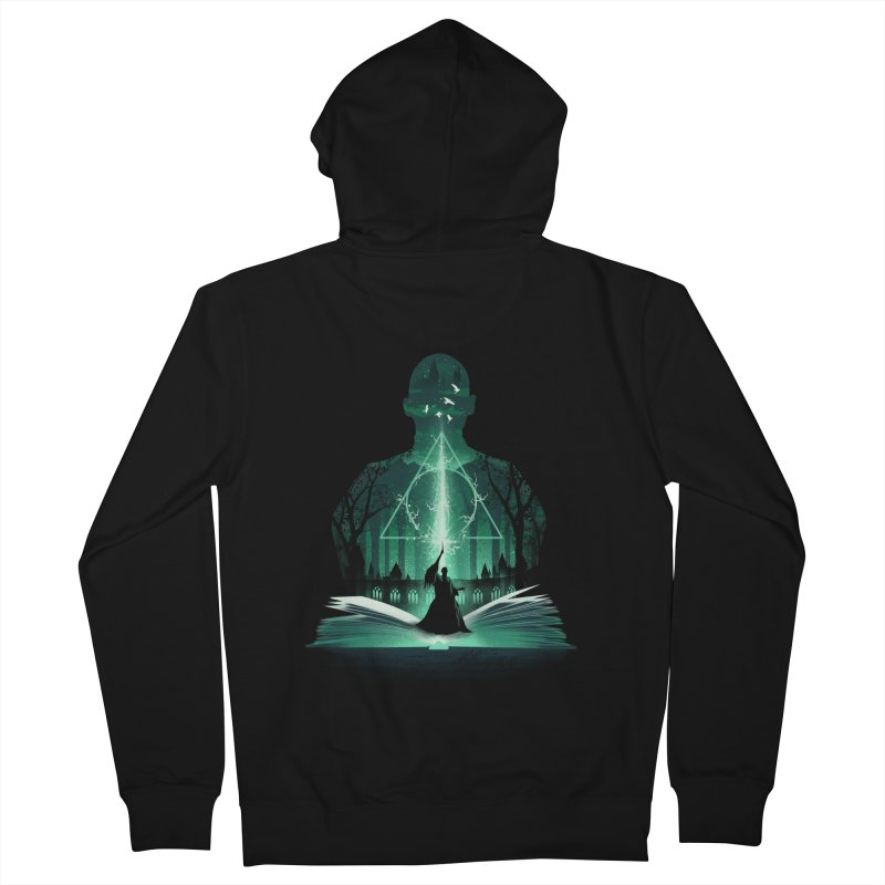 The 7th Book of Magic Men's French Terry Zip-Up Hoody by dandingeroz's Artist Shop