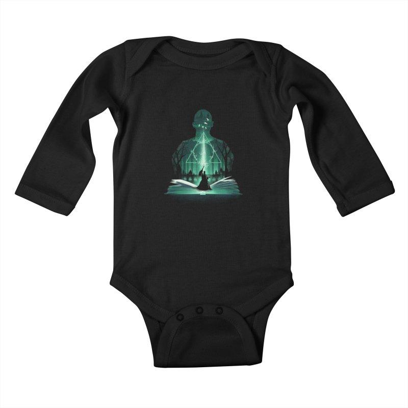 The 7th Book of Magic Kids Baby Longsleeve Bodysuit by dandingeroz's Artist Shop