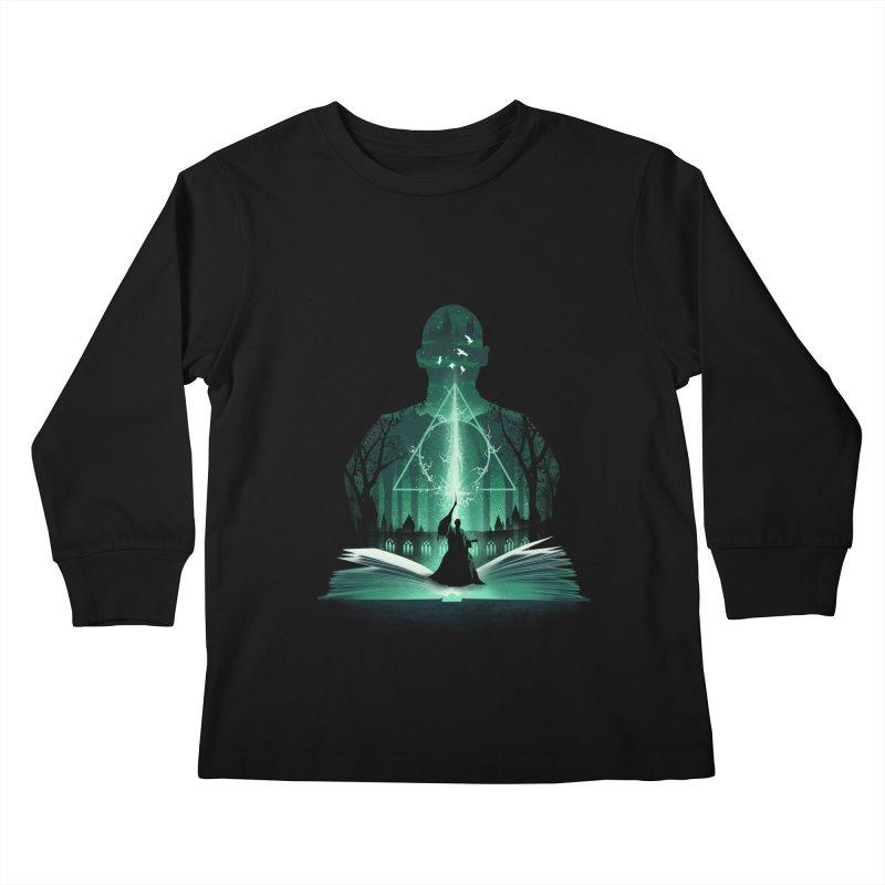 The 7th Book of Magic Kids Longsleeve T-Shirt by dandingeroz's Artist Shop