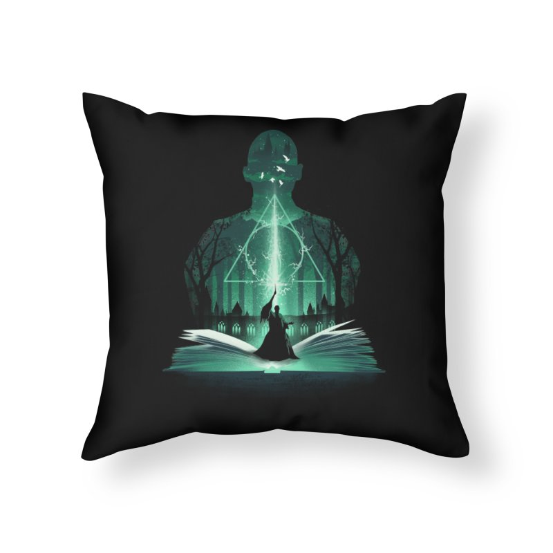 The 7th Book of Magic Home Throw Pillow by dandingeroz's Artist Shop