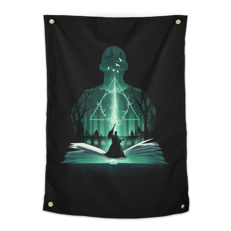 The 7th Book of Magic Home Tapestry by dandingeroz's Artist Shop