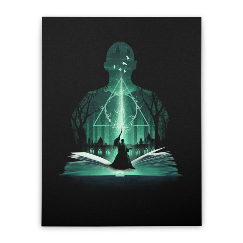 The 7th Book of Magic Home Stretched Canvas by dandingeroz's Artist Shop