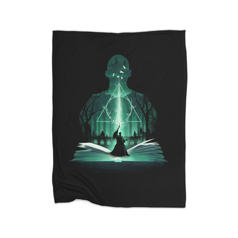 The 7th Book of Magic Home Blanket by dandingeroz's Artist Shop