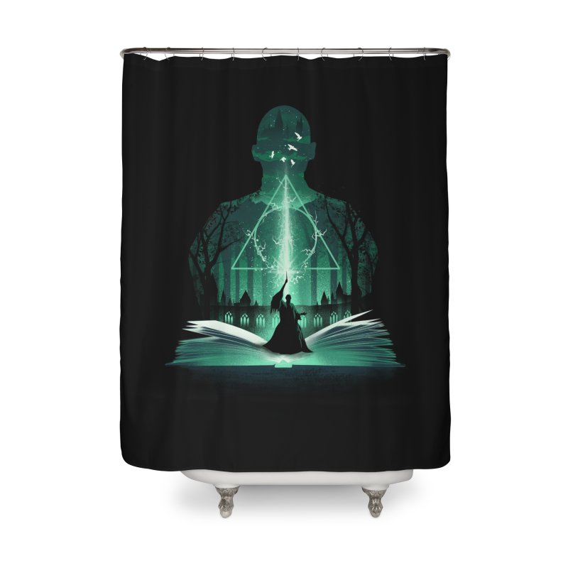 The 7th Book of Magic Home Shower Curtain by dandingeroz's Artist Shop