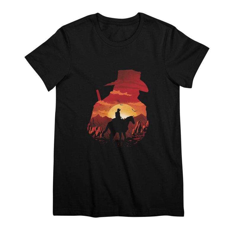 Red Sunset Women's Premium T-Shirt by dandingeroz's Artist Shop