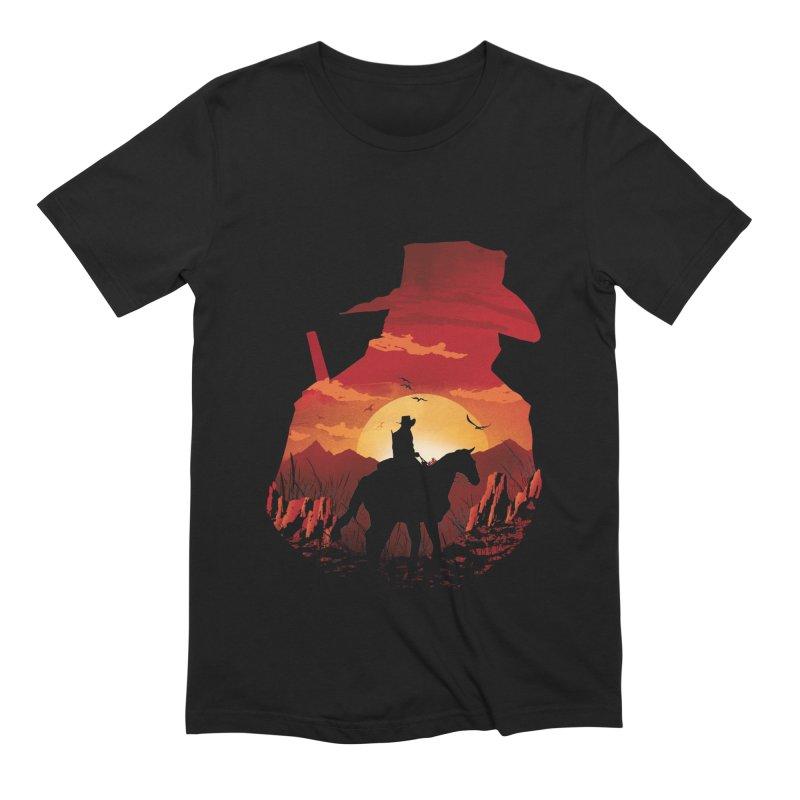 Red Sunset Men's Extra Soft T-Shirt by dandingeroz's Artist Shop