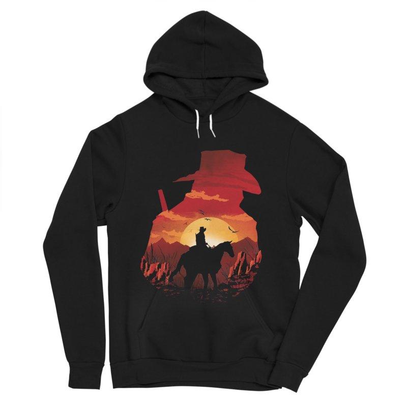 Red Sunset Men's Sponge Fleece Pullover Hoody by dandingeroz's Artist Shop