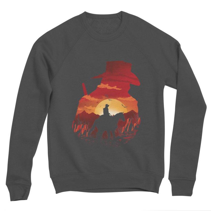 Red Sunset Women's Sponge Fleece Sweatshirt by dandingeroz's Artist Shop