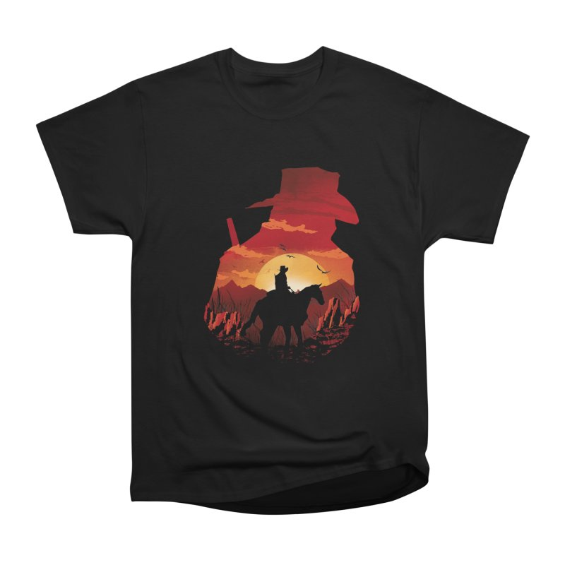 Red Sunset Men's T-Shirt by dandingeroz's Artist Shop