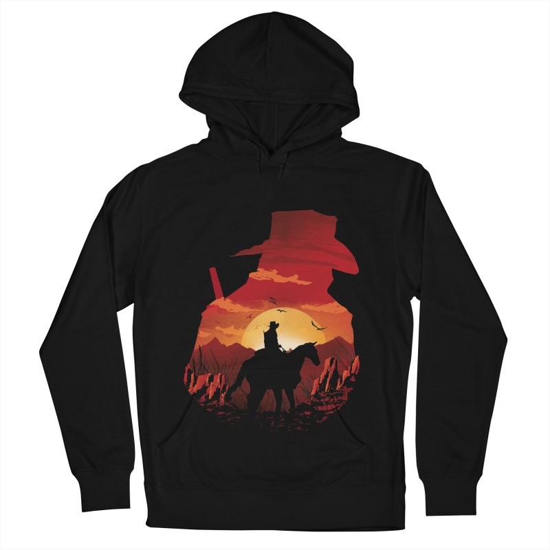 Red Sunset Men's French Terry Pullover Hoody by dandingeroz's Artist Shop