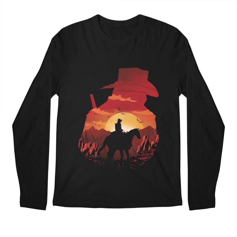 Red Sunset Men's Regular Longsleeve T-Shirt by dandingeroz's Artist Shop