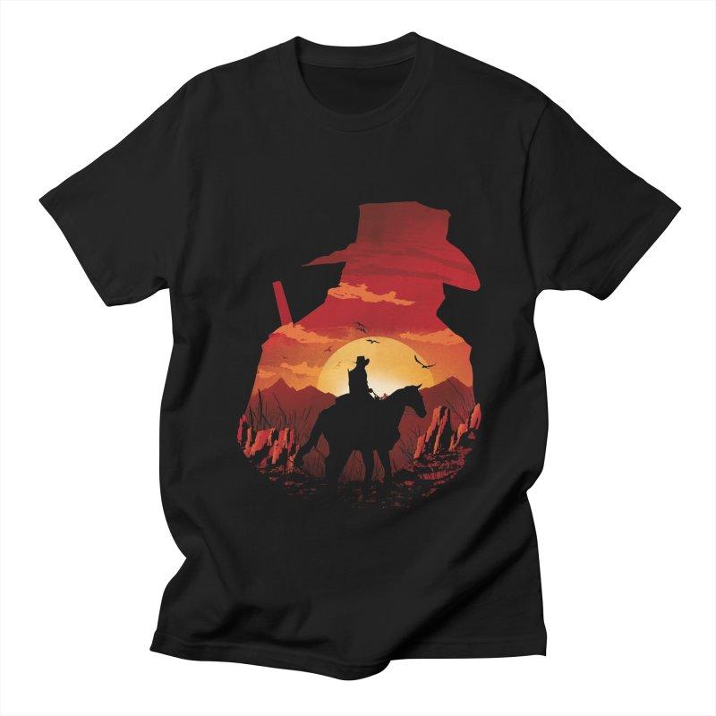Red Sunset Women's Regular Unisex T-Shirt by dandingeroz's Artist Shop