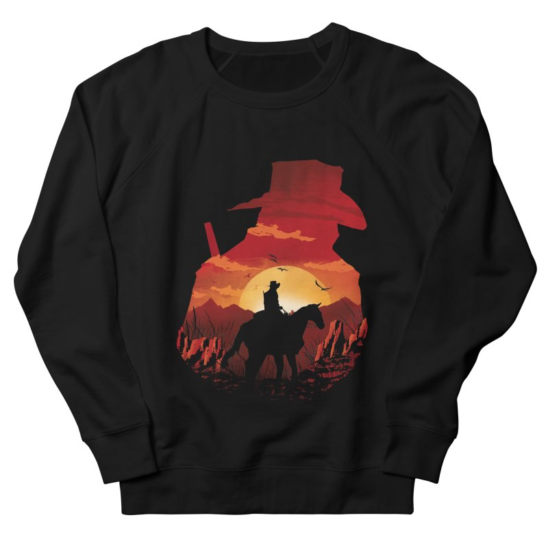 Red Sunset Men's French Terry Sweatshirt by dandingeroz's Artist Shop