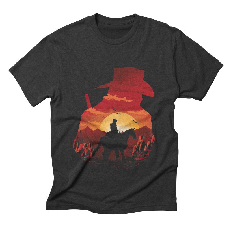 Red Sunset Men's Triblend T-Shirt by dandingeroz's Artist Shop