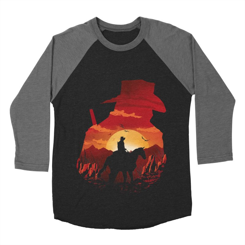 Red Sunset Women's Baseball Triblend Longsleeve T-Shirt by dandingeroz's Artist Shop