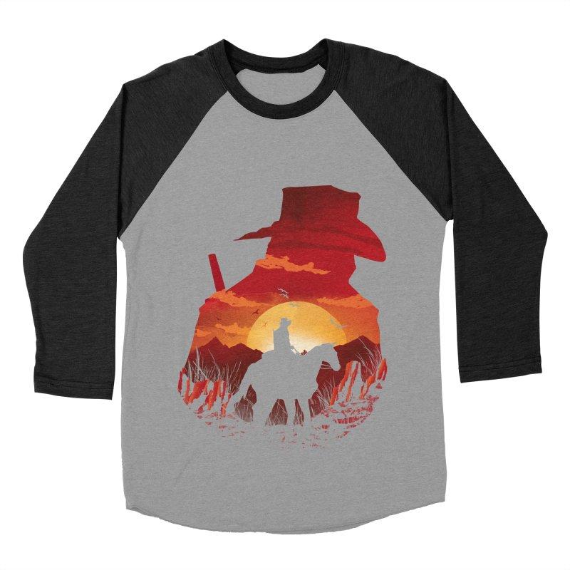 Red Sunset Women's Baseball Triblend Longsleeve T-Shirt by dandingeroz's Artist Shop