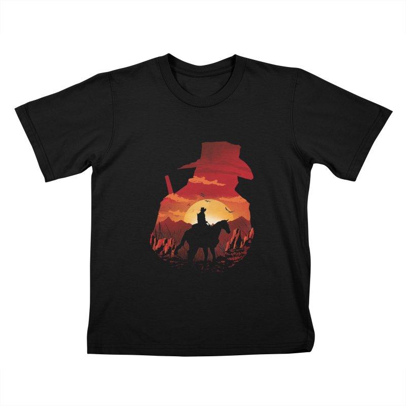 Red Sunset Kids T-Shirt by dandingeroz's Artist Shop