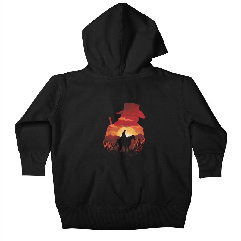 Red Sunset Kids Baby Zip-Up Hoody by dandingeroz's Artist Shop