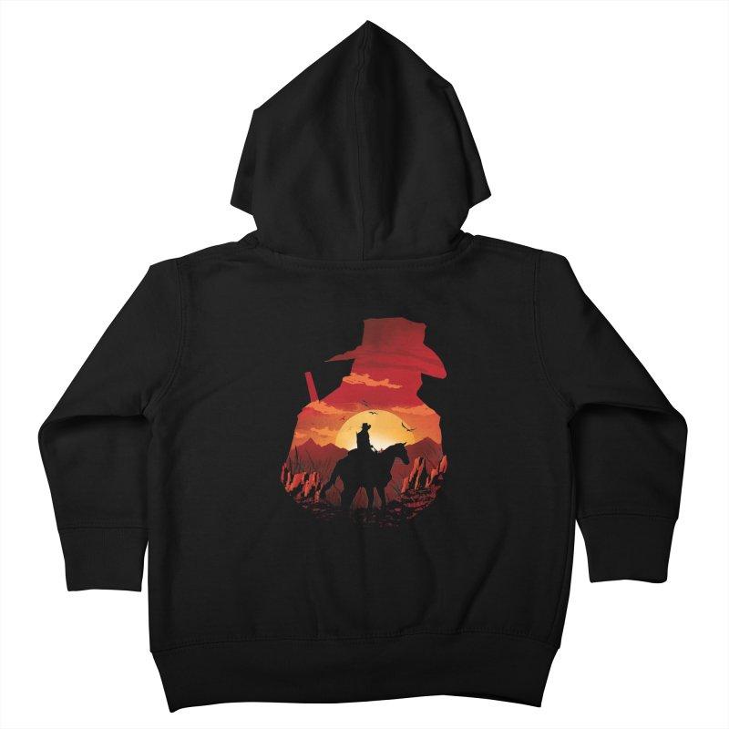 Red Sunset Kids Toddler Zip-Up Hoody by dandingeroz's Artist Shop