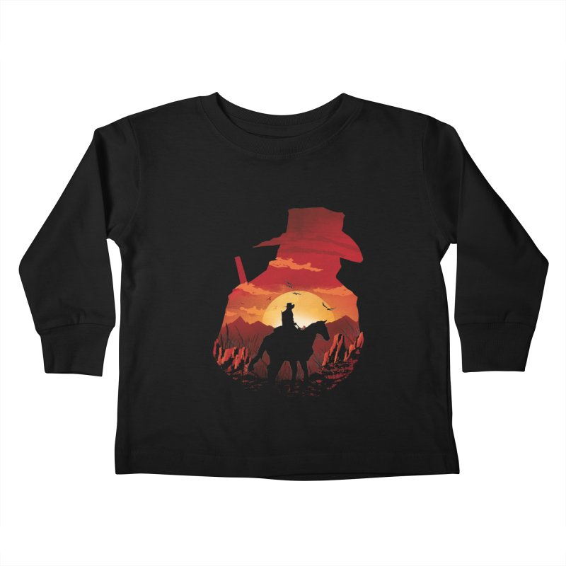 Red Sunset Kids Toddler Longsleeve T-Shirt by dandingeroz's Artist Shop