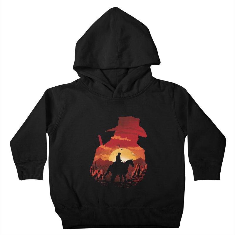 Red Sunset Kids Toddler Pullover Hoody by dandingeroz's Artist Shop