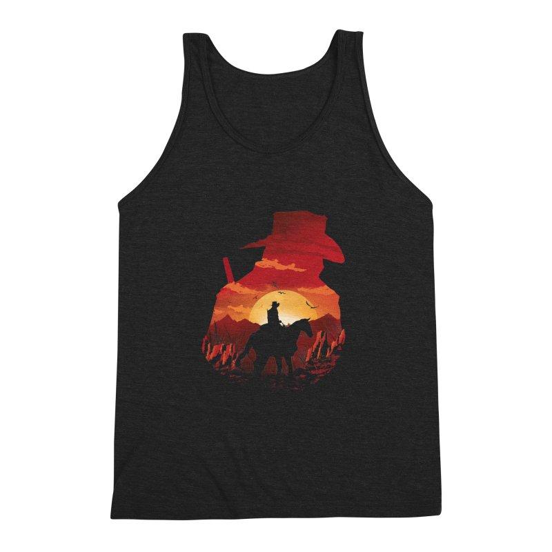 Red Sunset Men's Triblend Tank by dandingeroz's Artist Shop