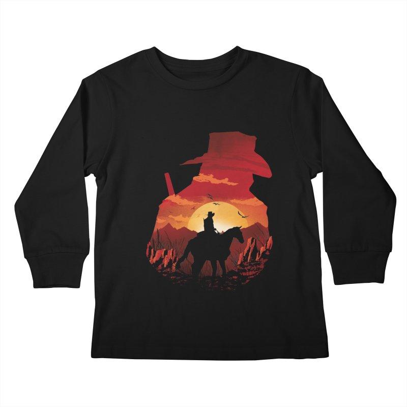Red Sunset Kids Longsleeve T-Shirt by dandingeroz's Artist Shop