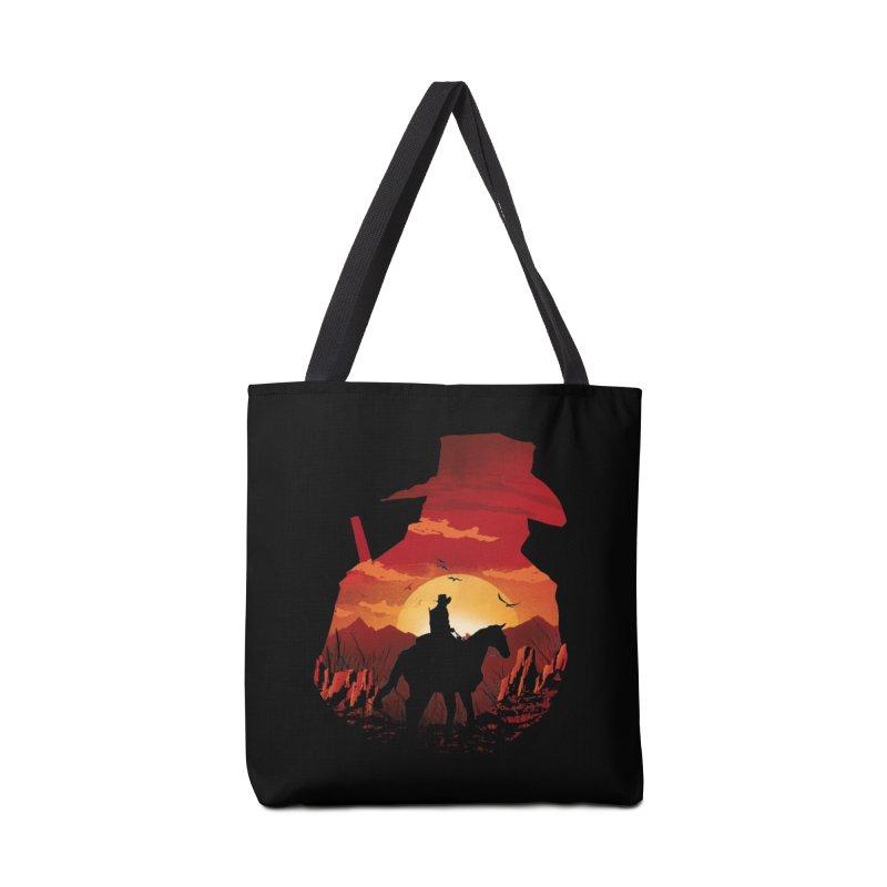 Red Sunset Accessories Bag by dandingeroz's Artist Shop