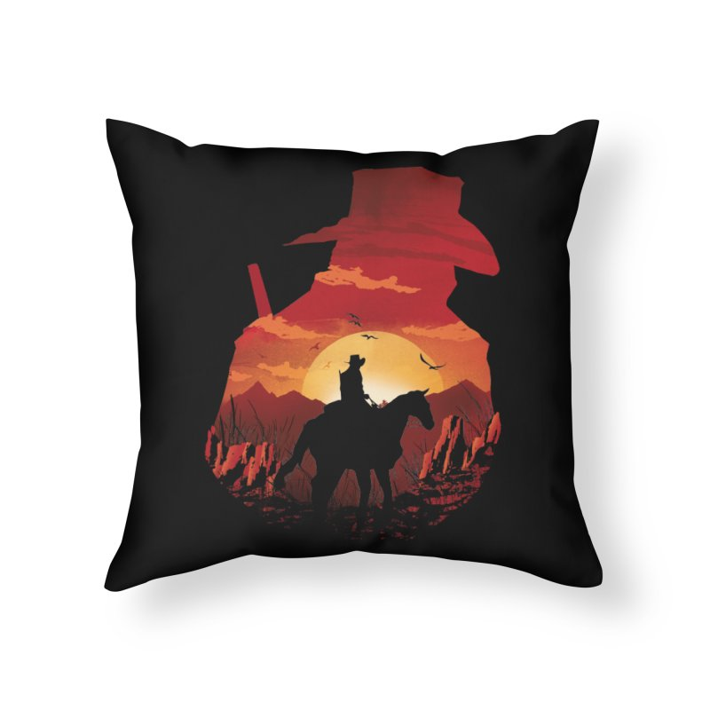 Red Sunset Home Throw Pillow by dandingeroz's Artist Shop
