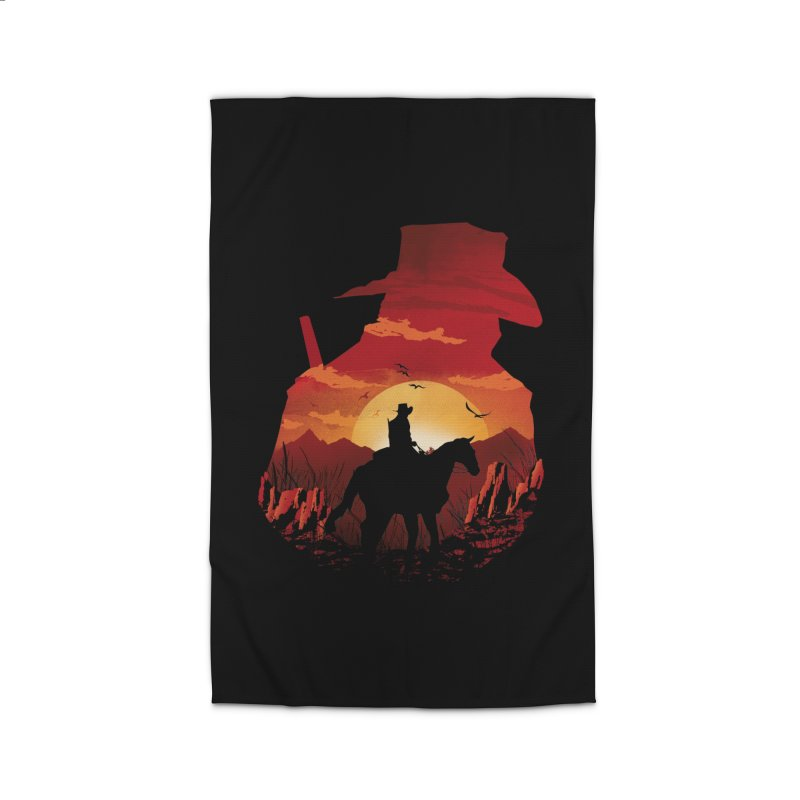 Red Sunset Home Rug by dandingeroz's Artist Shop