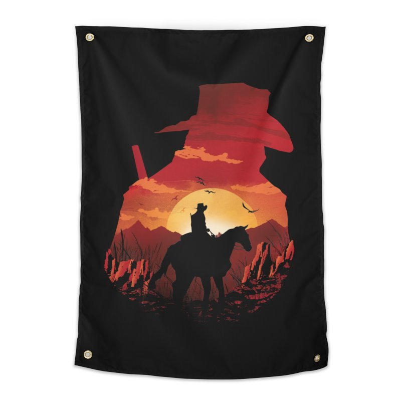 Red Sunset Home Tapestry by dandingeroz's Artist Shop