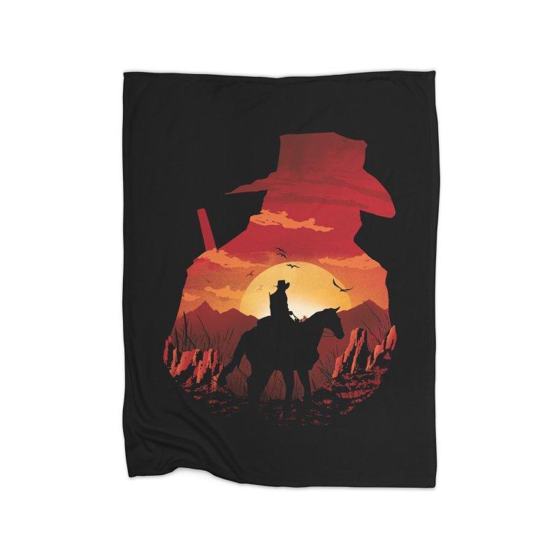 Red Sunset Home Blanket by dandingeroz's Artist Shop