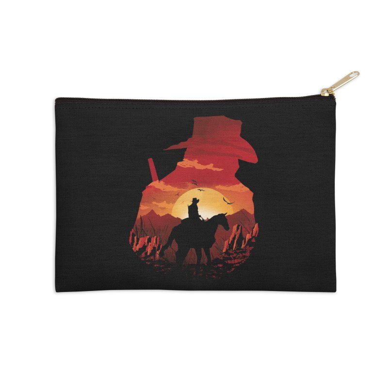 Red Sunset Accessories Zip Pouch by dandingeroz's Artist Shop