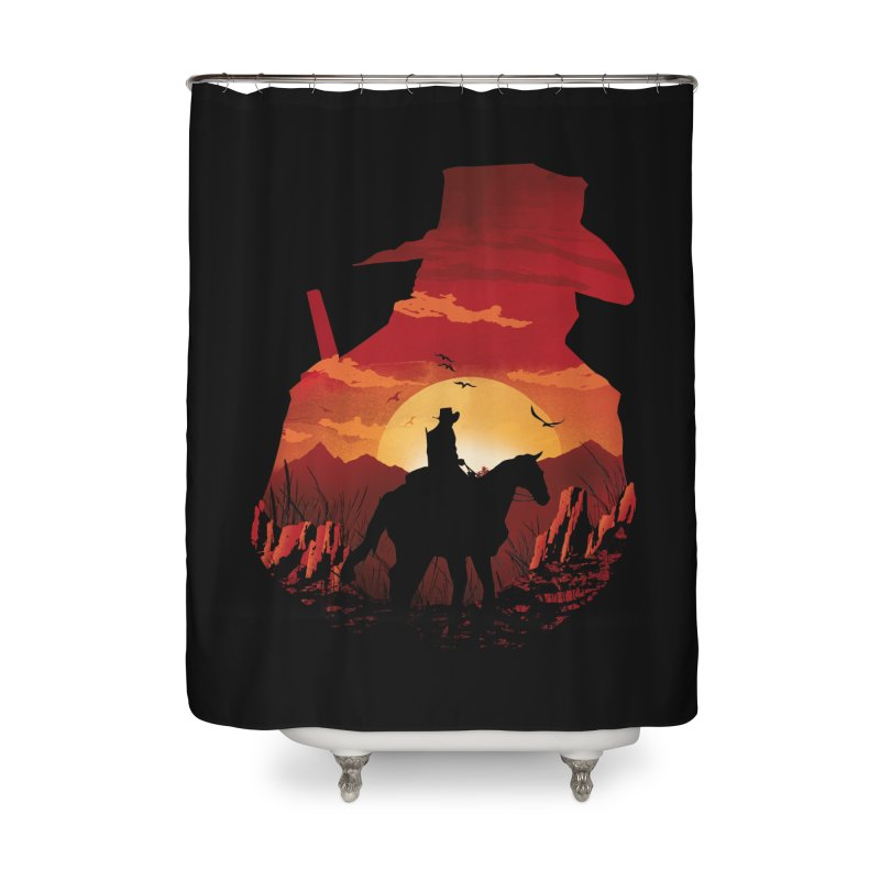 Red Sunset Home Shower Curtain by dandingeroz's Artist Shop