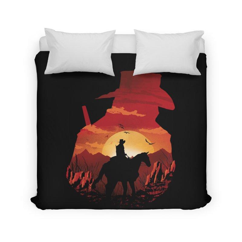 Red Sunset Home Duvet by dandingeroz's Artist Shop
