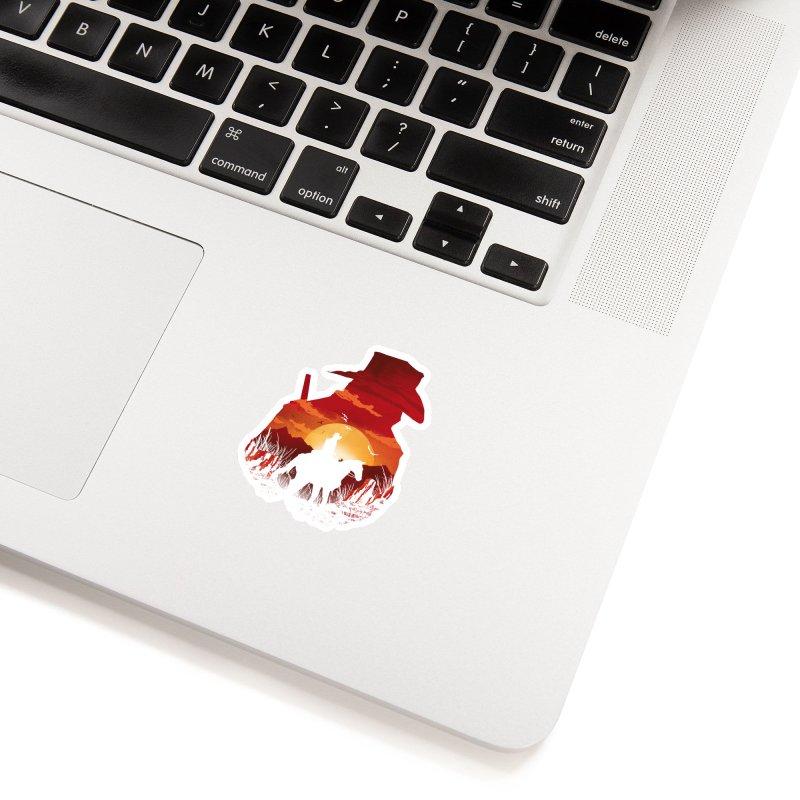 Red Sunset Accessories Sticker by dandingeroz's Artist Shop