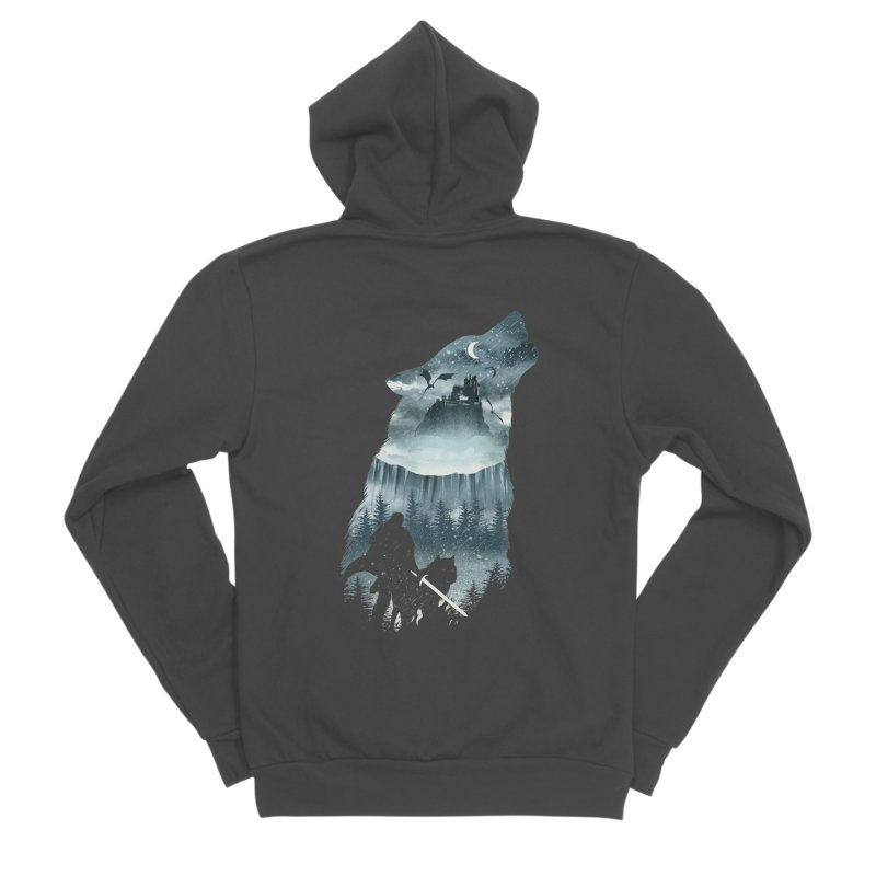 Winter Has Come Men's Sponge Fleece Zip-Up Hoody by dandingeroz's Artist Shop