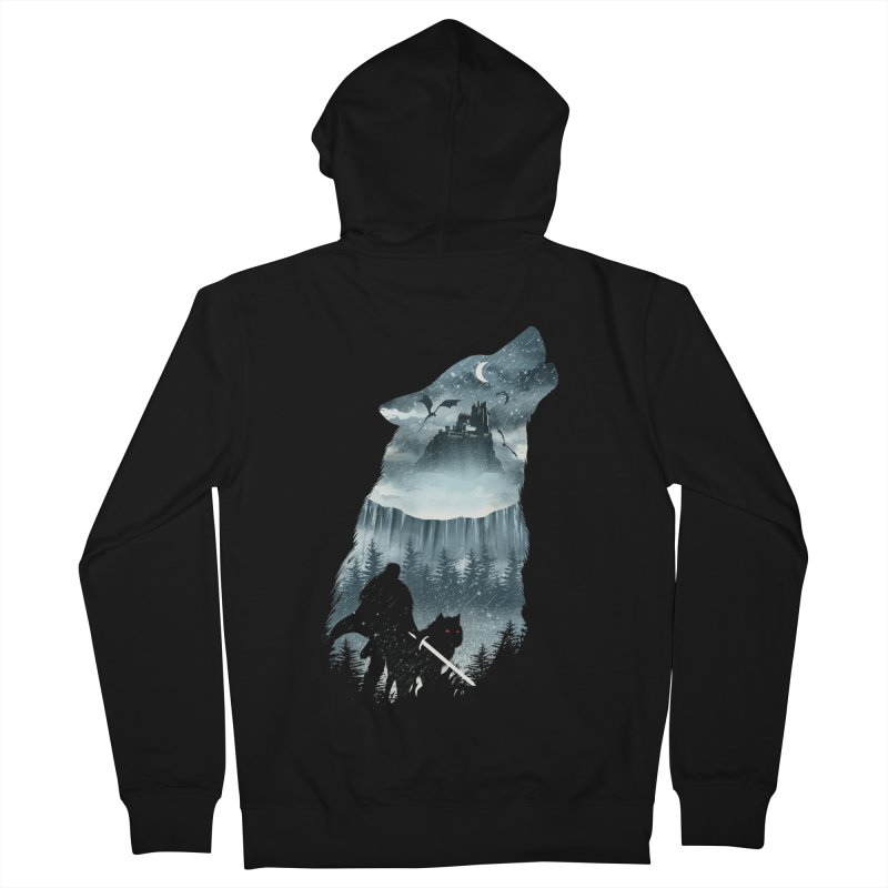 Winter Has Come Women's French Terry Zip-Up Hoody by dandingeroz's Artist Shop