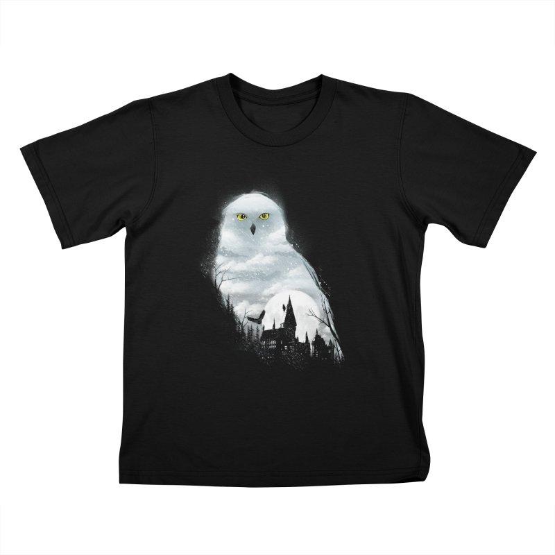Magical Winter Kids T-Shirt by dandingeroz's Artist Shop