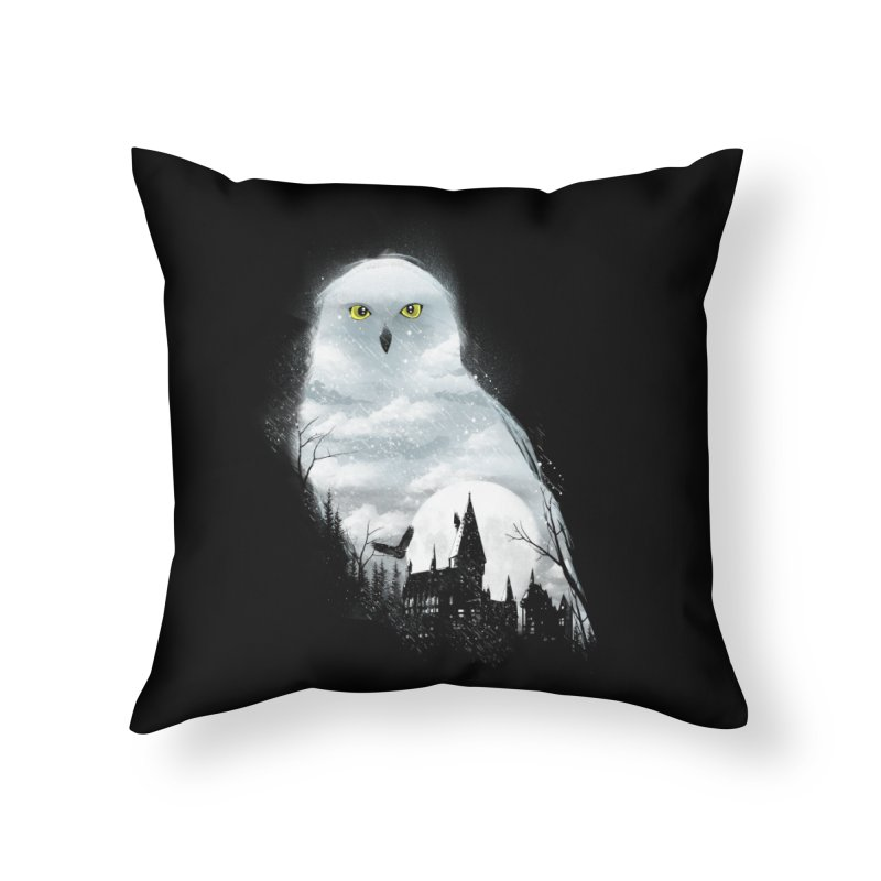 Magical Winter Home Throw Pillow by dandingeroz's Artist Shop