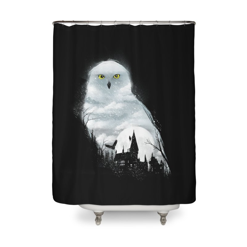 Magical Winter Home Shower Curtain by dandingeroz's Artist Shop