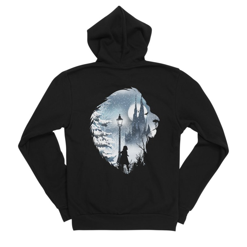 Mystical Winter Men's Sponge Fleece Zip-Up Hoody by dandingeroz's Artist Shop