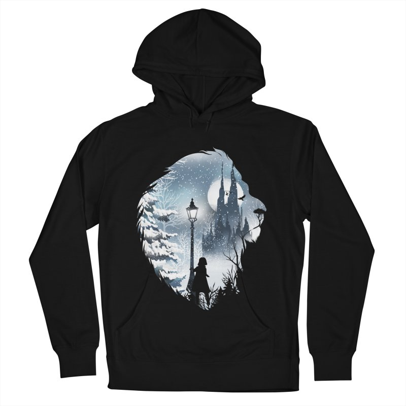 Mystical Winter Men's French Terry Pullover Hoody by dandingeroz's Artist Shop