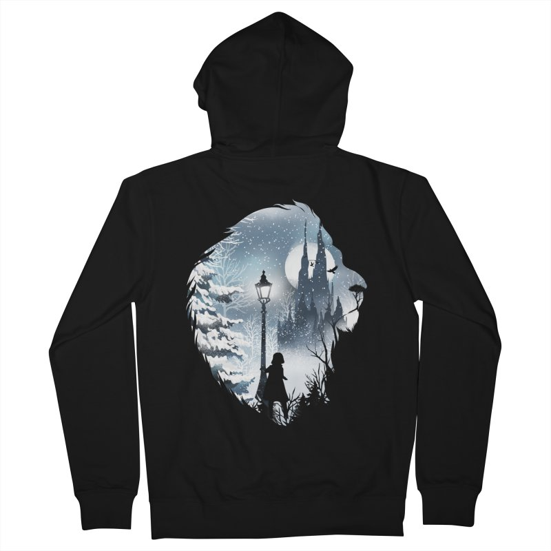 Mystical Winter Women's French Terry Zip-Up Hoody by dandingeroz's Artist Shop