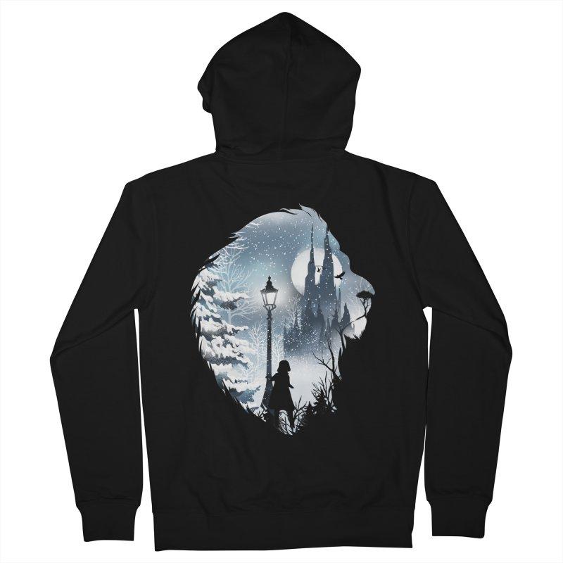 Mystical Winter Men's French Terry Zip-Up Hoody by dandingeroz's Artist Shop